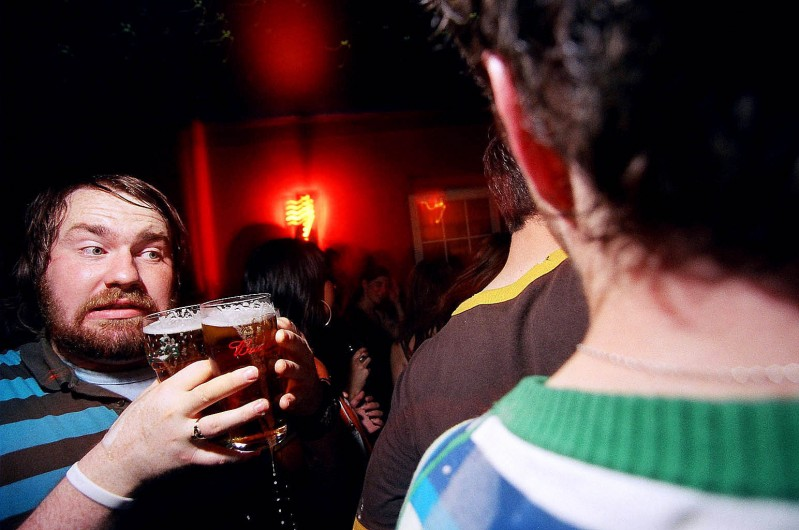 Marty getting the drinks in, 2005